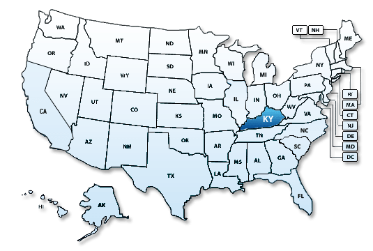 EFile Kentucky KY State Tax Extension Forms ExpressExtensioncom - Ky map forms